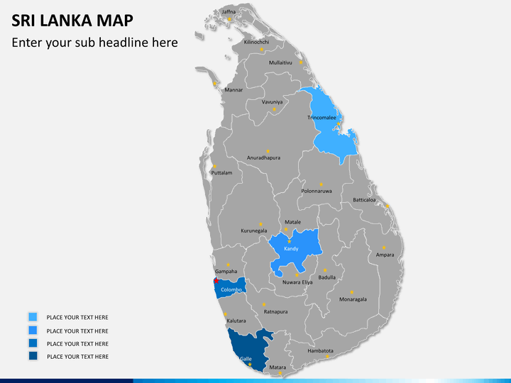 Sri lanka map PPT slide 7