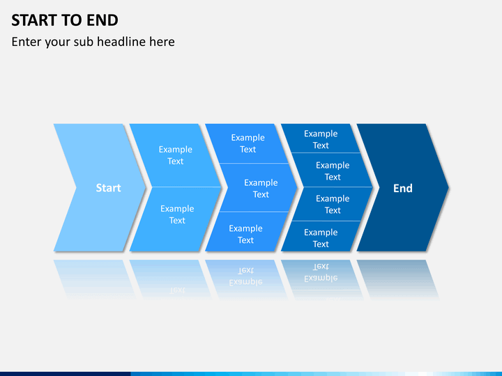 start to end powerpoint diagrams