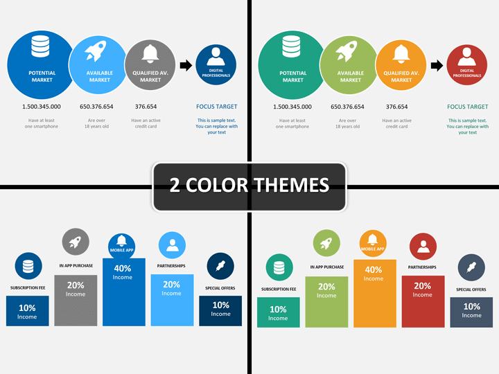 Startup PowerPoint Template SketchBubble