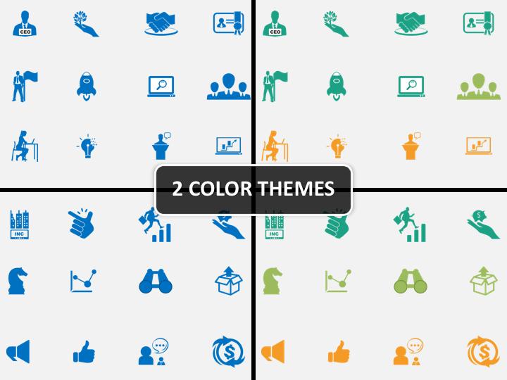 Startup Icons PPT cover slide