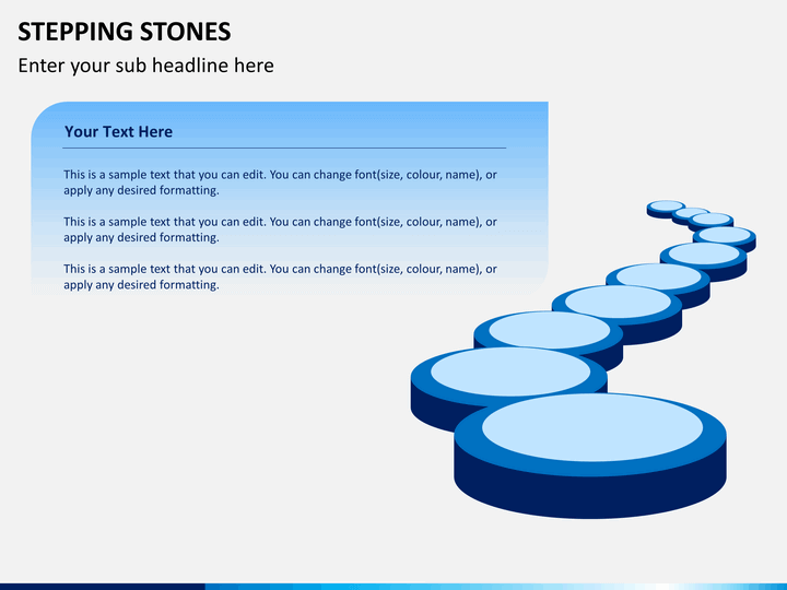 Stepping stones PPT slide 1