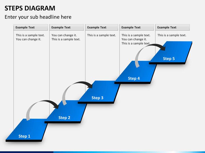 Steps Diagram PowerPoint Template | SketchBubble
