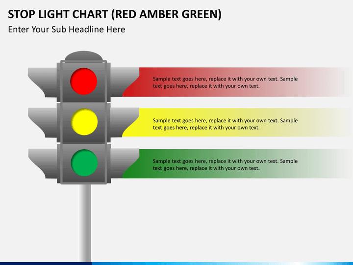 stop light chart powerpoint template sketchbubble