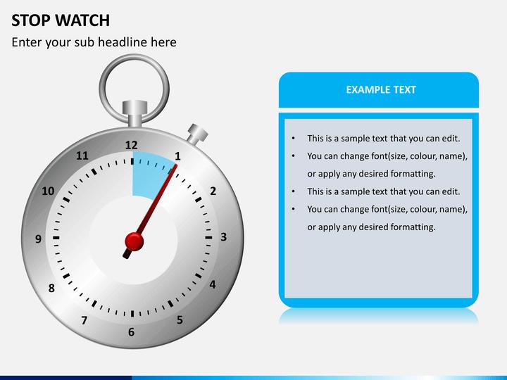 Stopwatch PPT slide 1