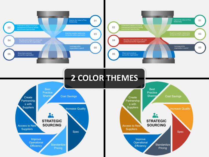 Strategic sourcing PPT cover slide