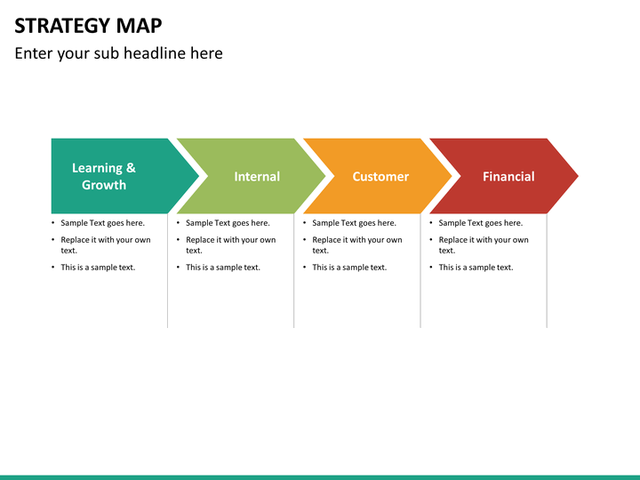 strategy map powerpoint template sketchbubble