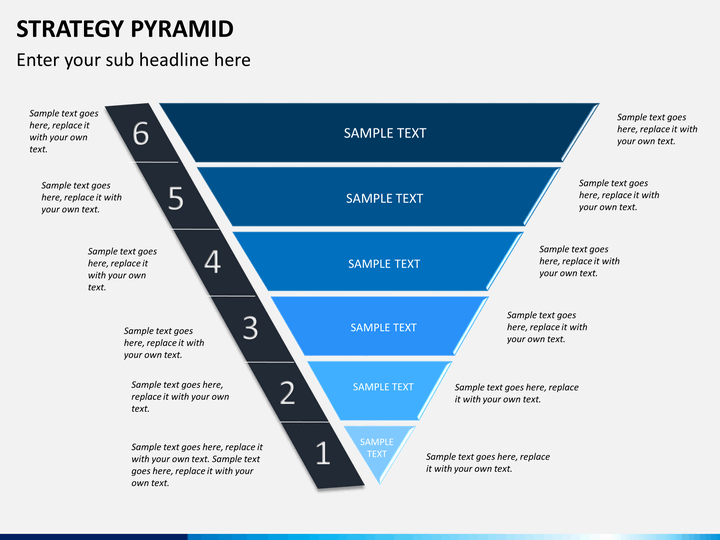 strategy pyramid powerpoint template