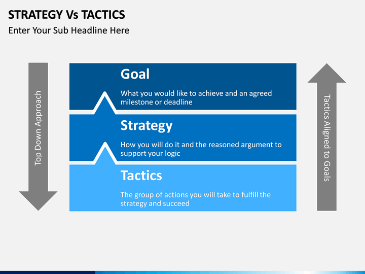 strategy vs tactics powerpoint template