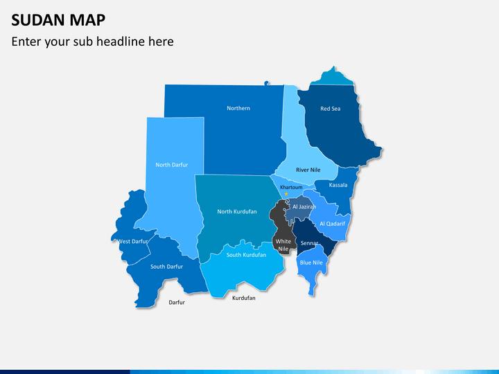 Sudan map PPT slide 2