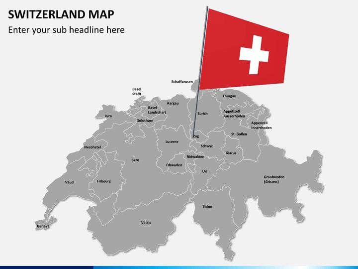 Switzerland Map PowerPoint SketchBubble - Switzerland map