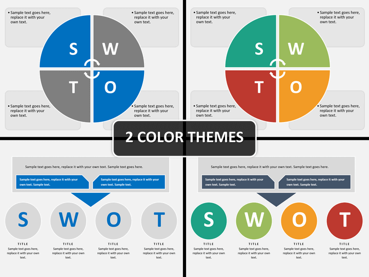 Swot analysis PPT cover slide