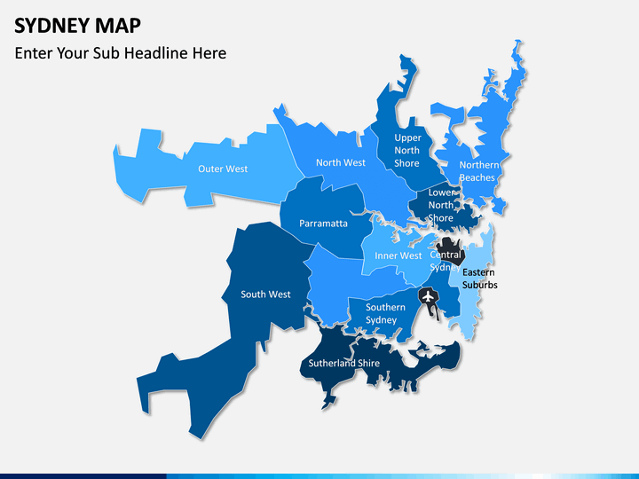 Sydney map PPT slide 2