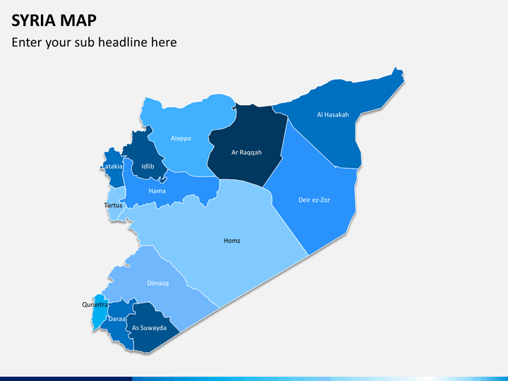 Syria map PPT slide 1