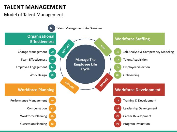 onboarding process flow chart ppt Talent Management PowerPoint Template | SketchBubble