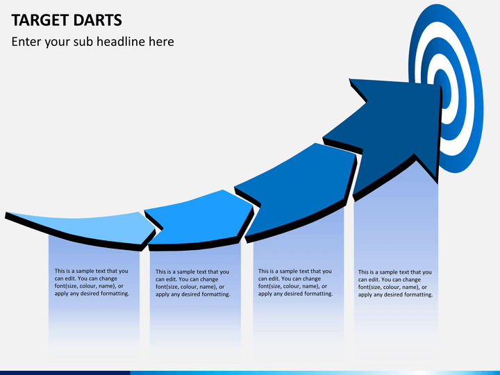 target darts powerpoint template sketchbubble