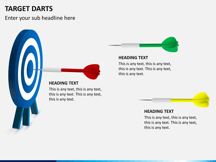 Target Darts Powerpoint Template Sketchbubble