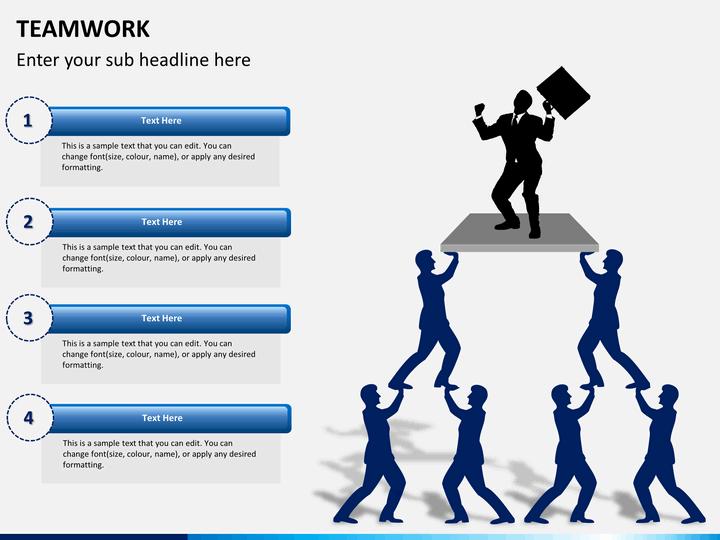 Teamwork PowerPoint Template | SketchBubble