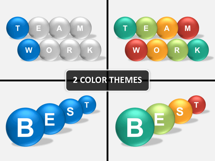 Text spheres PPT cover slide