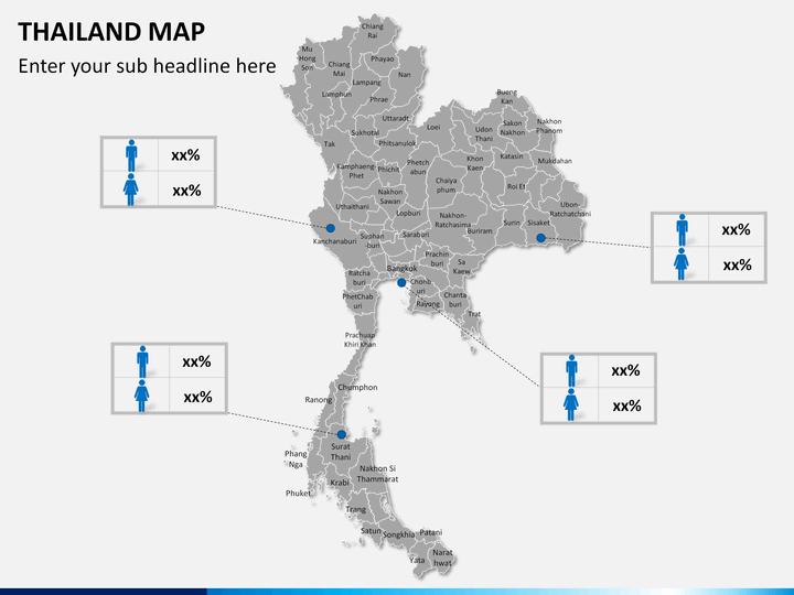 Lopburi Thailand Map.Thailand Map Powerpoint Sketchbubble