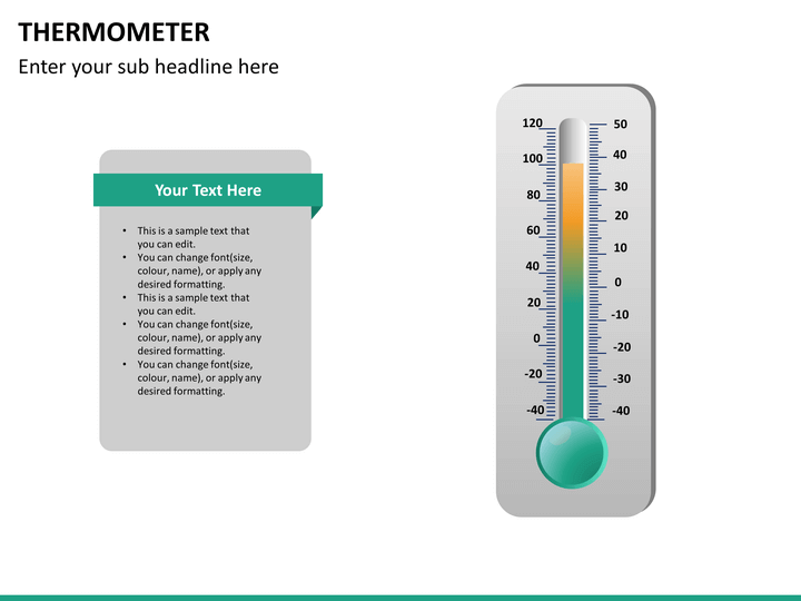 powerpoint thermometer template sketchbubble