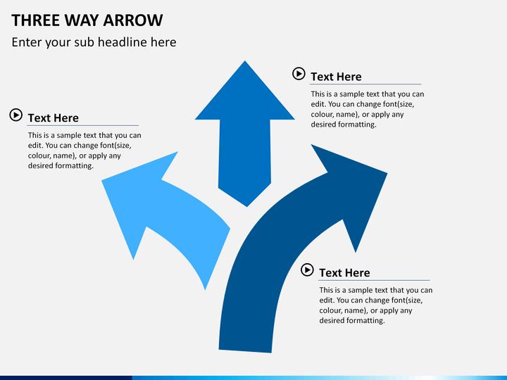 Three Way Arrow Powerpoint Template