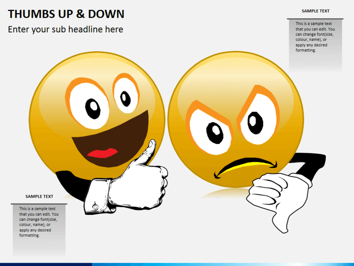 Thumbs up and down PPT slide 1