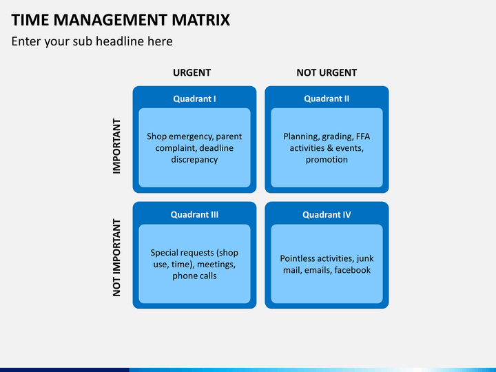 Time management matrix powerpoint template sketchbubble time management matrix ppt slide 5 pronofoot35fo Choice Image