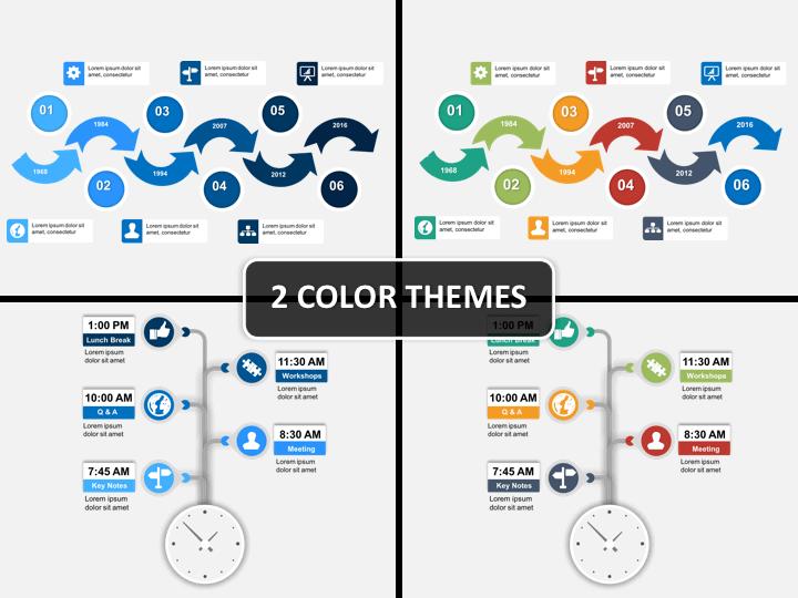 Timelines Collection PPT cover slide