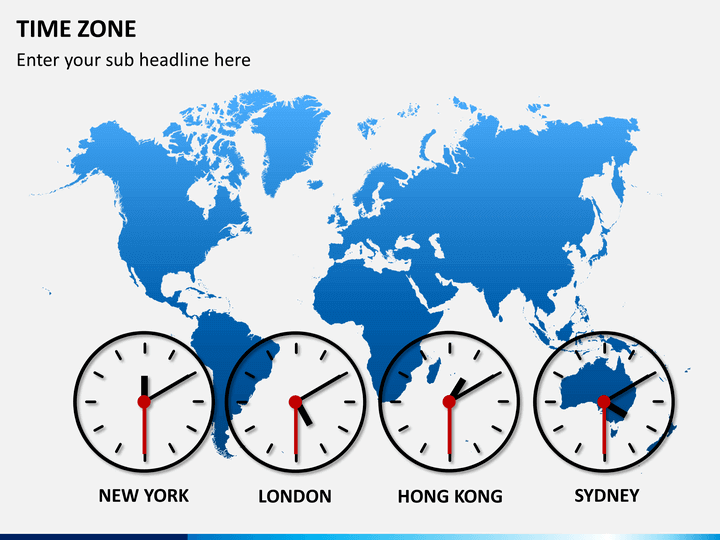 Time Zones Powerpoint Template Sketchbubble