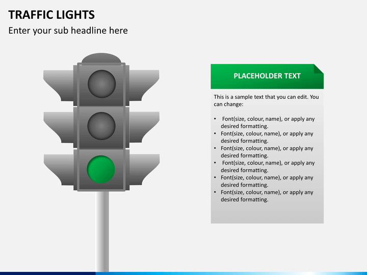 Traffic Lights Traffic Signs Powerpoint Template