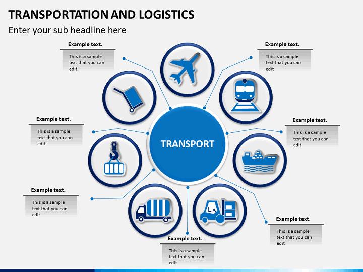 transportation amp logistics process powerpoint sketchbubble