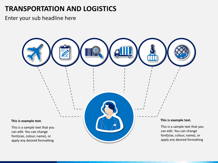 transportation amp logistics process powerpoint sketchbubble