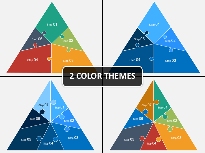 Triangle puzzle PPT cover slide
