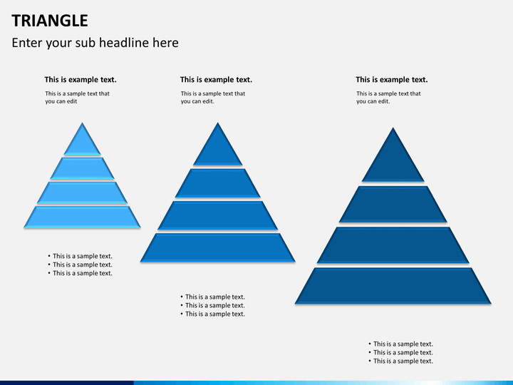 triangle shapes powerpoint