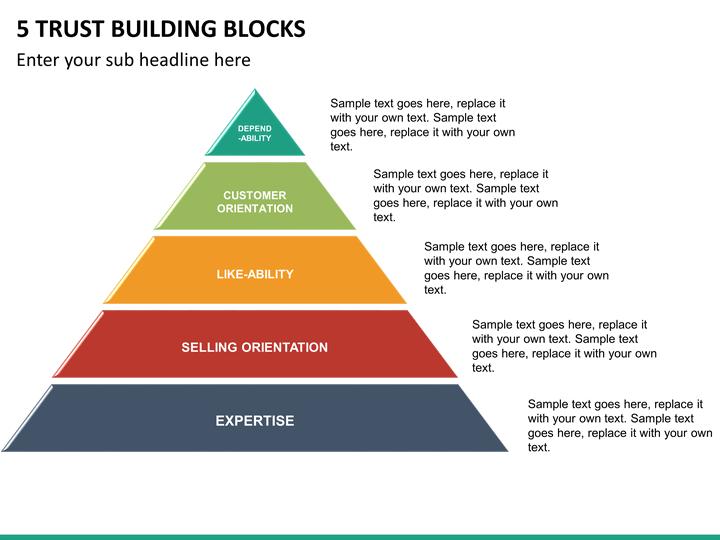 5 trust building blocks powerpoint template