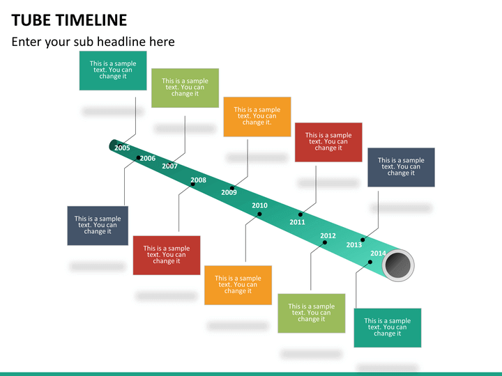 tube timeline powerpoint template