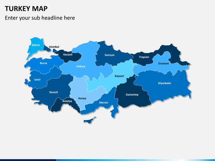 Turkey map PPT slide 1