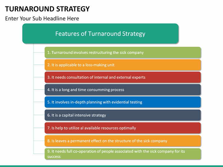 Turnaround Strategy PowerPoint Template | SketchBubble