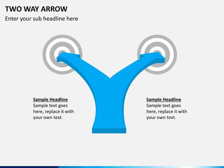 Two Way Arrow Powerpoint Shapes Sketchbubble