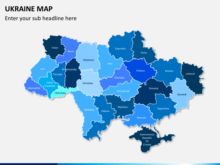 Ukraine map PPT slide 1