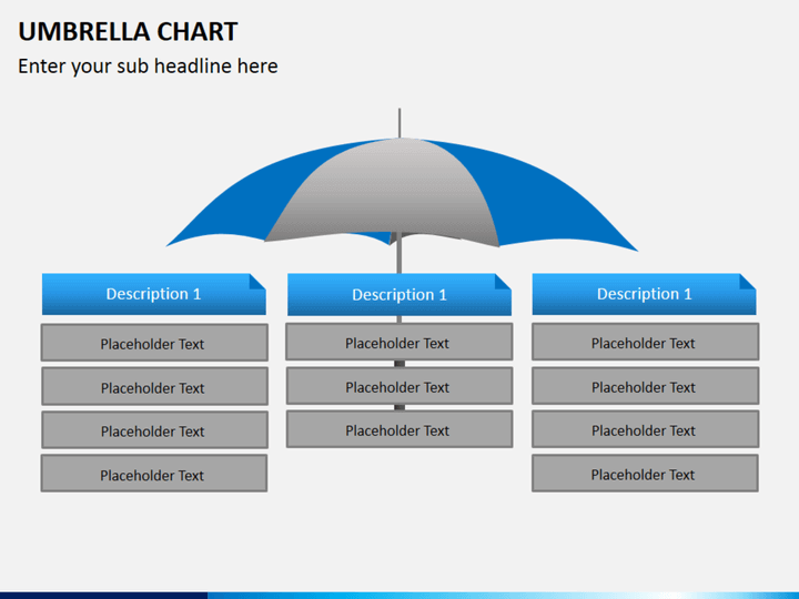 Umbrella Chart PowerPoint Template | SketchBubble