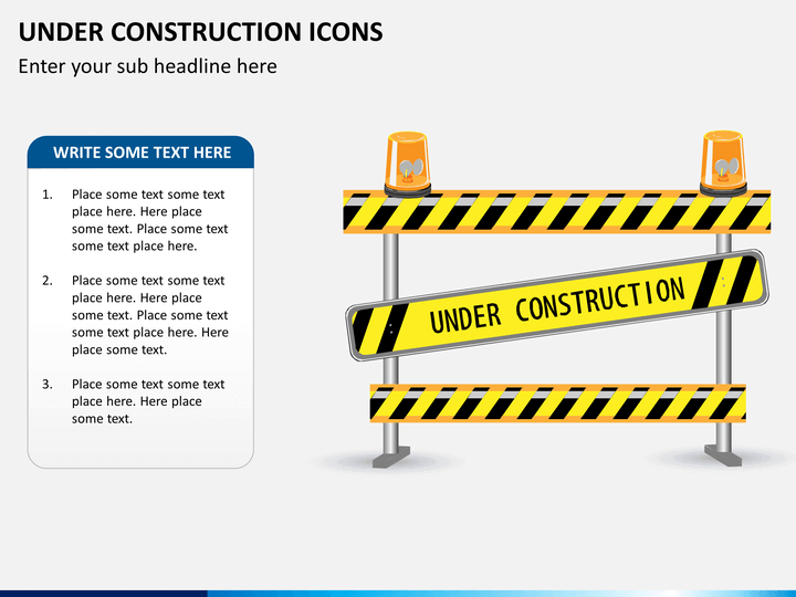 Under construction icons PPT slide 1