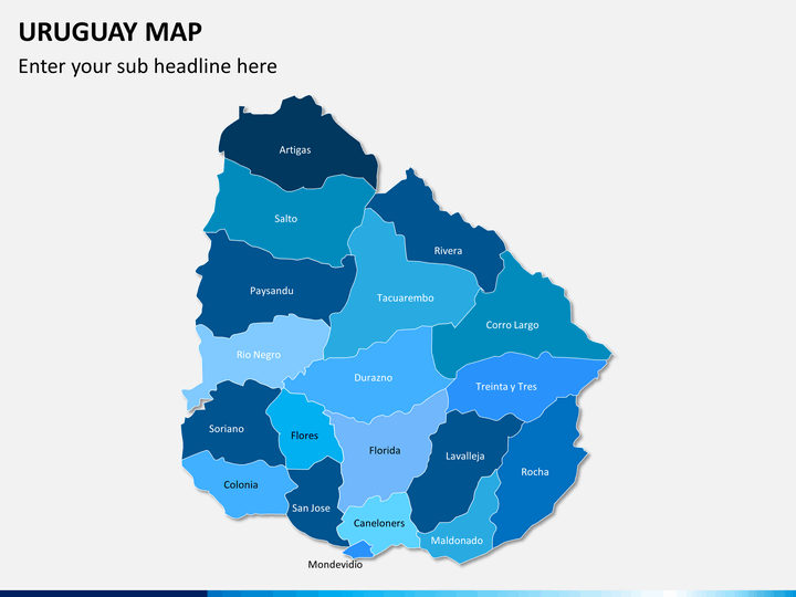 Uruguay map PPT slide 1