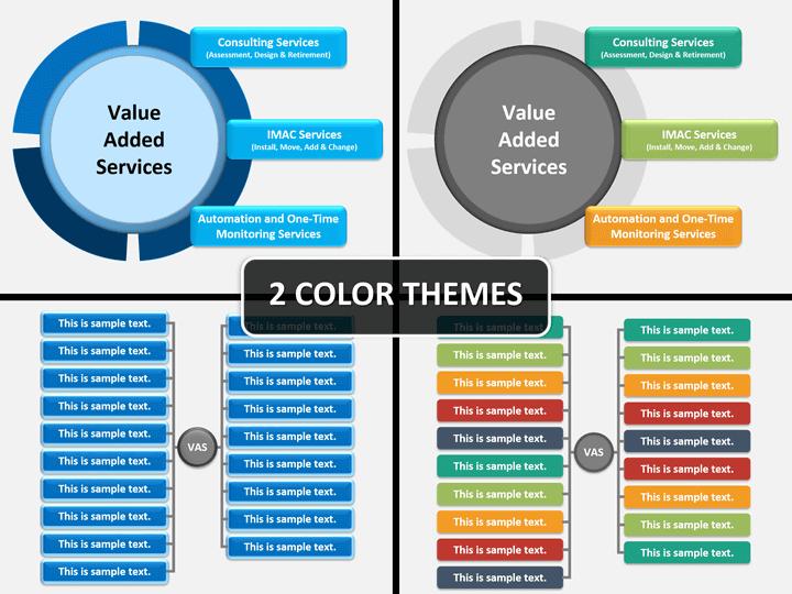 Value added services PPT cover slide
