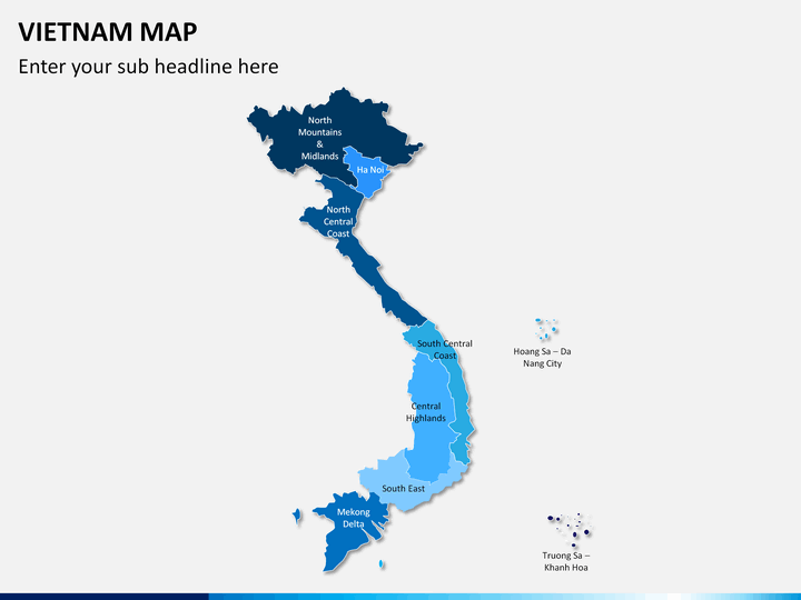 Vietnam map PPT slide 1