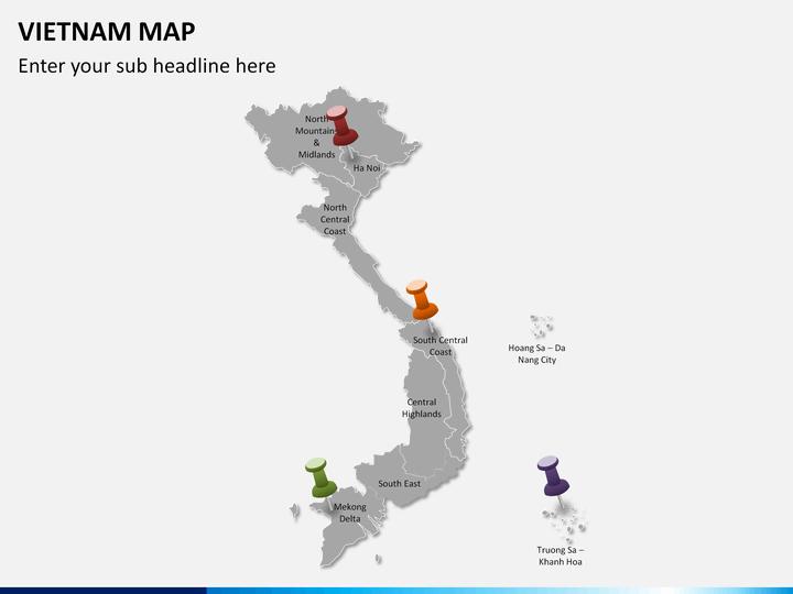 Vietnam Map PowerPoint SketchBubble