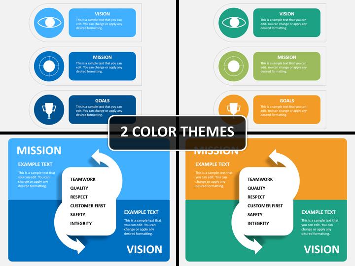 Vision mission statement PPT cover slide