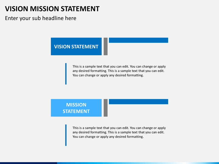 Vision Mission Statement PowerPoint Template – Sample Vision Statement