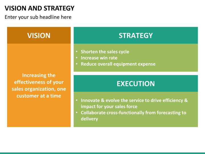 Vision And Strategy Powerpoint Template Sketchbubble