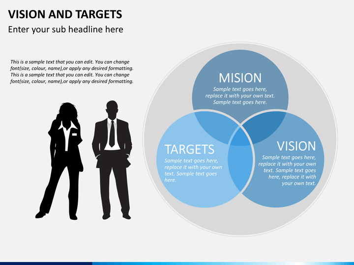 Vision And Targets PowerPoint Template SketchBubble